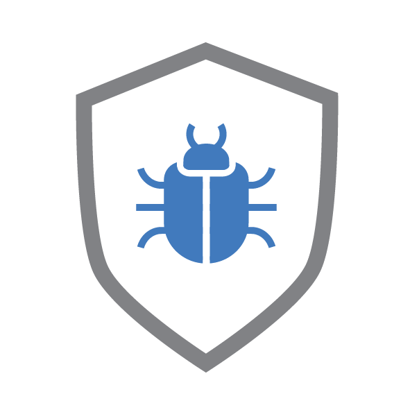 bug shield icon